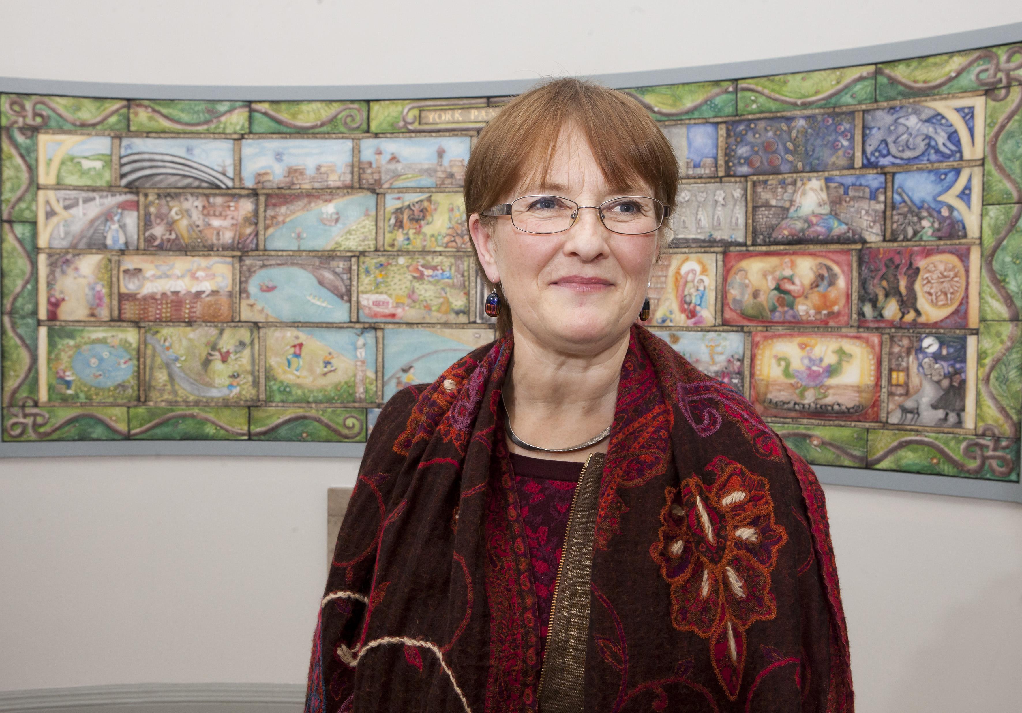 Panorama artist Emily Harvey