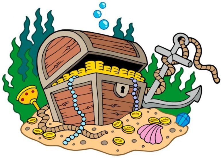cartoon image of a treasure chest