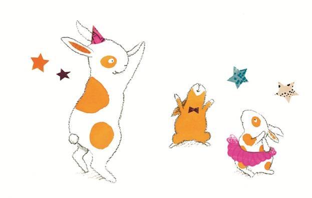 3 cartoon bunnies
