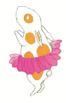 Cartoon bunny in a tutu